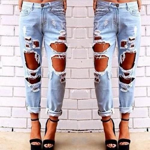 Fashion women jeans woman Light