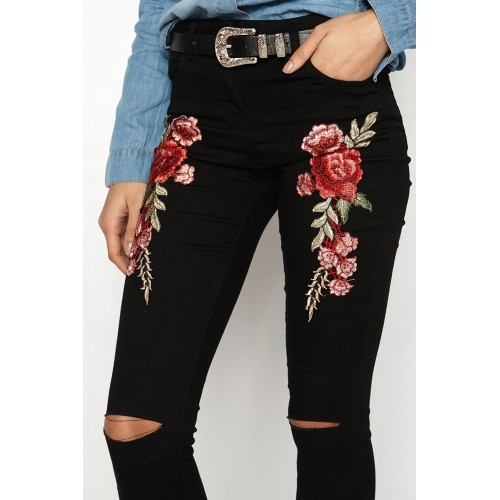 Fashionable Newest Women Flower Embroidery
