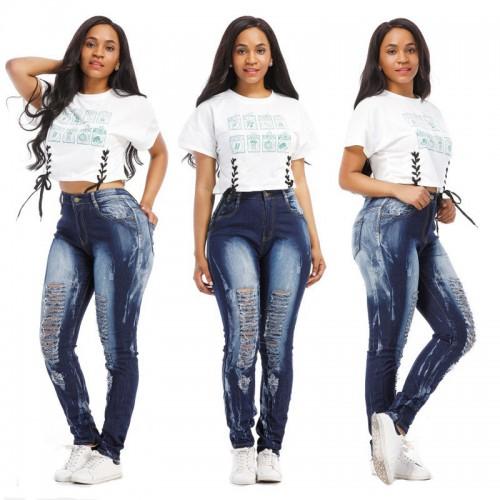 Body Jean Women Skinny Ripped