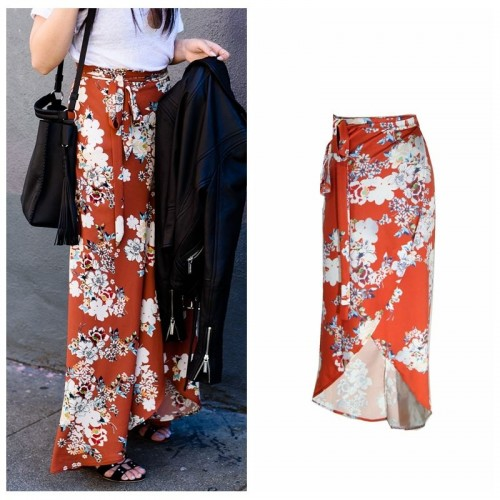 ITFABS Casual Floral Retro Style Skirts