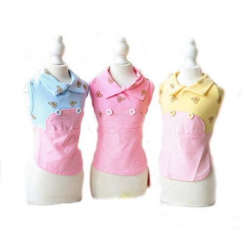 Casual Pet Clothes Fake Aprons Puppy Warm Cotton Vest
