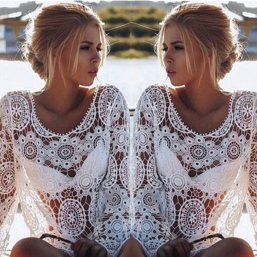 2017 Fashion Women Summer Lace Hollow