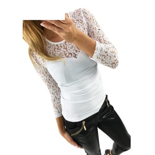 2017 New fashion Women's Shirts Spring O-neck
