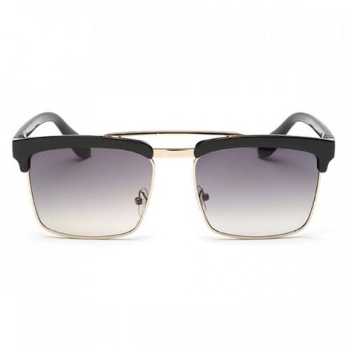 Trendy Black Brow Quadrate Frame Sunglasses