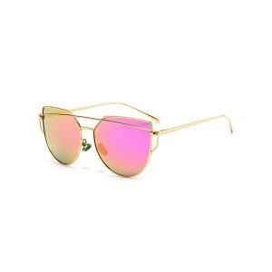 Chic Faux Jade Irregular Mirror Sunglasses - Golden
