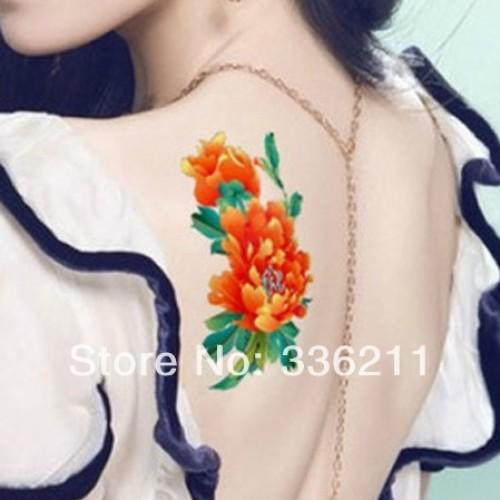 10pcs big Peony designs Temporary tattoo stickers