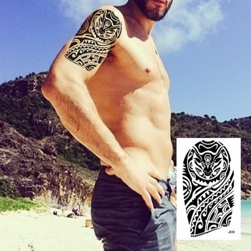 1PC big Arm Sleeves Temporary Tattoo Sticker