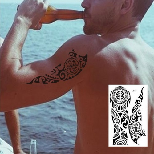 1PC hot Large Arm Sleeve Temporary Tattoo Sticker
