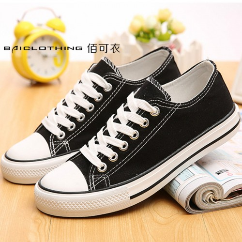 Women Canvas Shoes New Fashion Lace-up Women