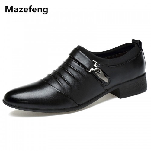 England Style Men Dress Shoes Buckle Strap