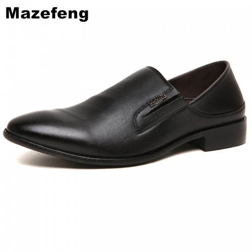 Mazefeng England Style Men Leather Formal shoes