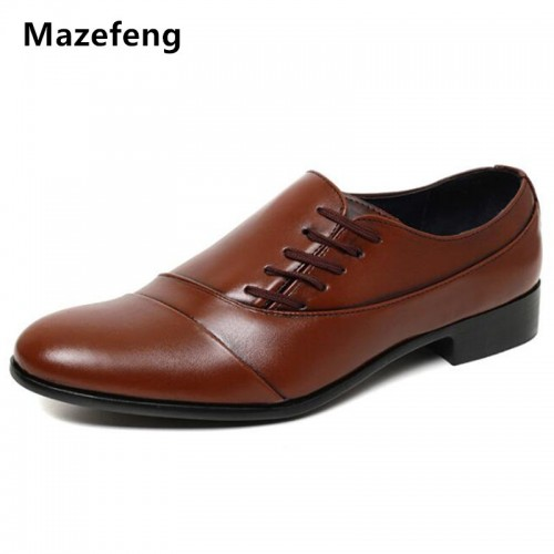 Mazefeng Men Dress Shoes Business Shoes PU