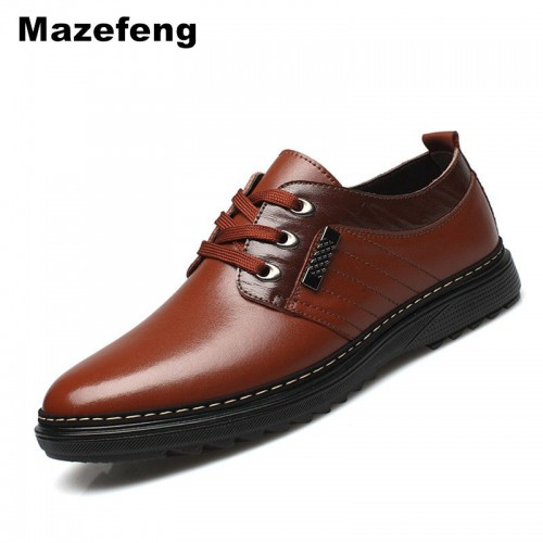 Mazefeng Spring Autumn Male Dress Shoes Fashion