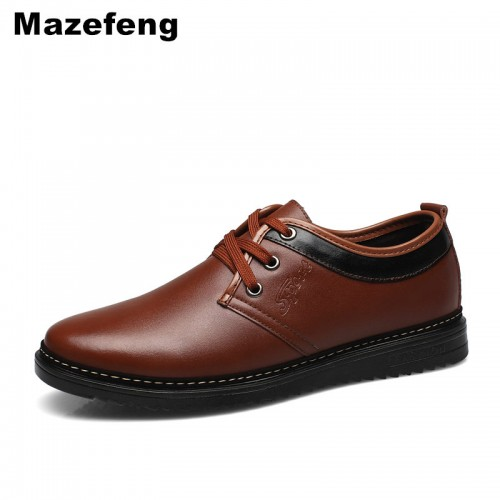 Mazefeng Spring Male Dress Shoes Fashion Men