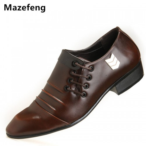 Mazefeng Spring Men Wedding Shoes Business