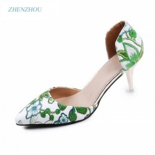 summer new women's OL brand shoes embroidered