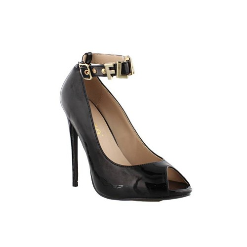 Buckle Closure Ankle Strap Peep Toes