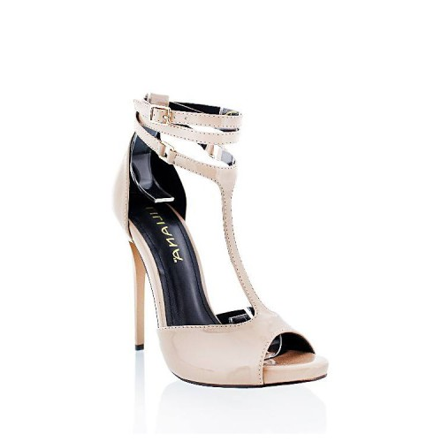 T-Strap Buckle Closure Stilettos