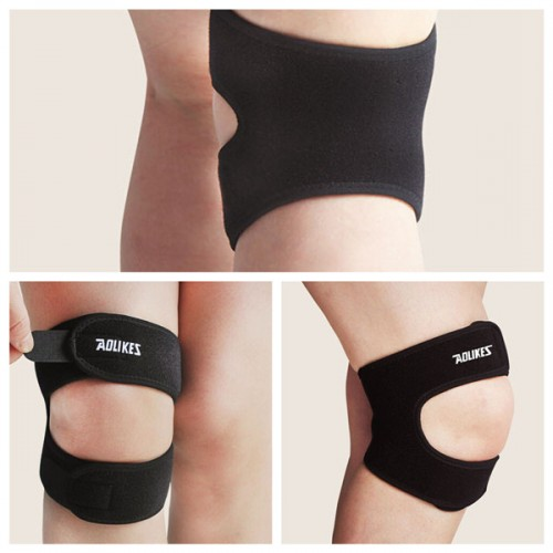 Black Adjustable Men Women Knee Supporter Brace