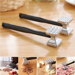 Aluminium Double Side Meat Steak Tenderizer Hammer