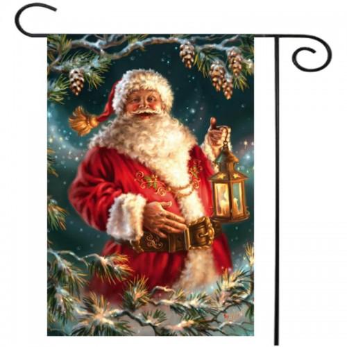 Christmas Santa Claus Polyester Welcome Flag Garden Holiday
