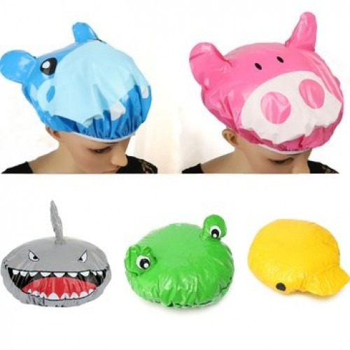 Cartoon Animal Shower Cap Bath Hat