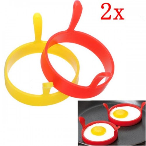 2 Pieces Kitchen Silicone Fried Egg Device Round Ring Cook