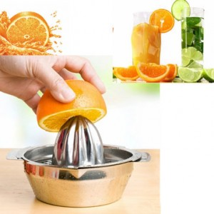 Stainless Steel Fruit Lemon Kitchen Citrus Juicer Hand Press