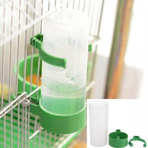 Parrot Bird Drinker Feeder Watering Plastic With Clip