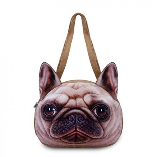 Women Cute Dog Head Shoulder Bags