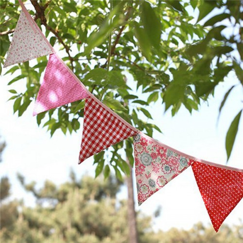 Lovely Handmade Fabric Flags Buntings Pennants