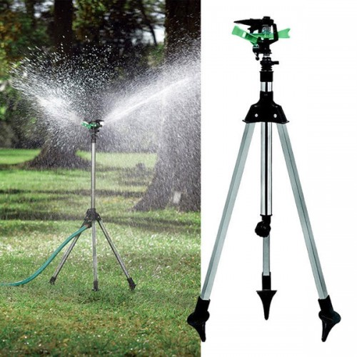 Garden Lawn Plant Watering Telescopic Tripod Sprinkler