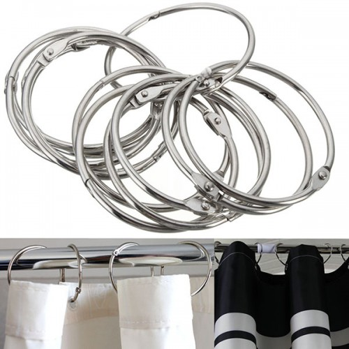Stainless Steel Circle Shower Curtain Hook Bath