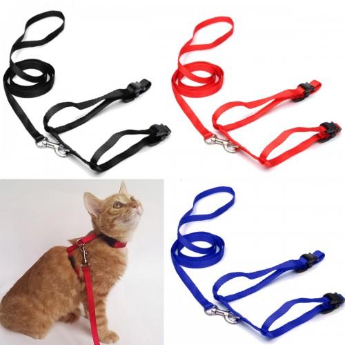 Pet Cat Kitten Adjustable Harness Nylon Collar