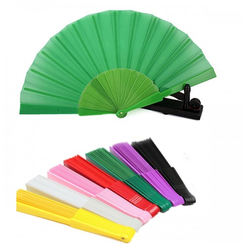 Portable Folding Fan Summer Plastic Handheld Fans