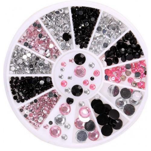 1 Box Glitter Nail Tools 3D Nail Art Decorations for Nails