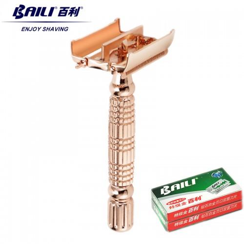 BAILI Classic Platinum Double Edge Safety Blade Razor