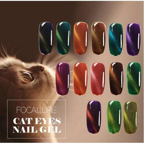 FOCALLURE Cat's Eye Polish Long lasting UV Gel Nail