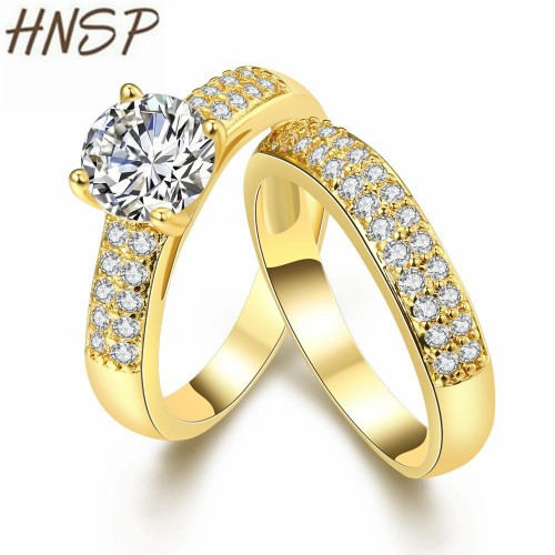 HNSP Classic Couple Love Engagement wedding Rings