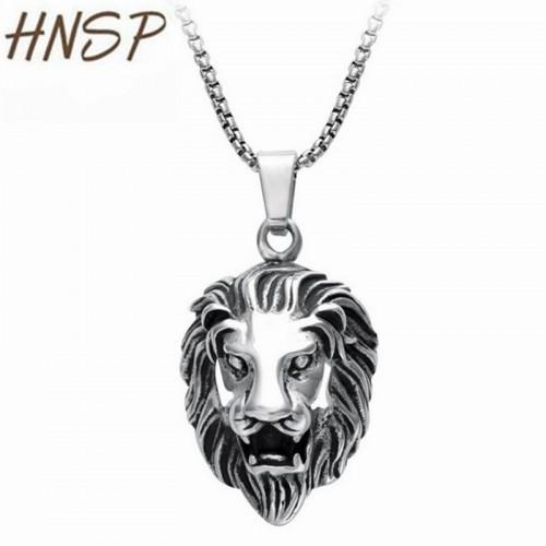 HNSP Fashion Punk Link Chain Lion head Pendant Necklaces