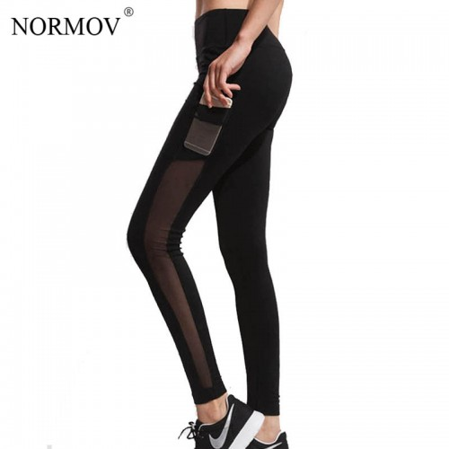 01390470a2c77 NORMOV S-XL Adventure Time Mesh Leggings for Women