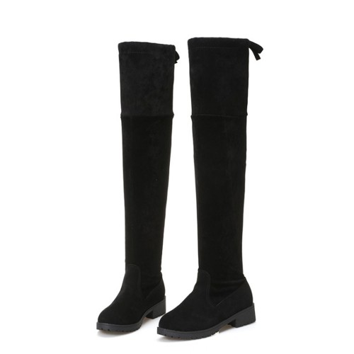 2017 Women shoes New Over The Knee Thigh High Black Boots