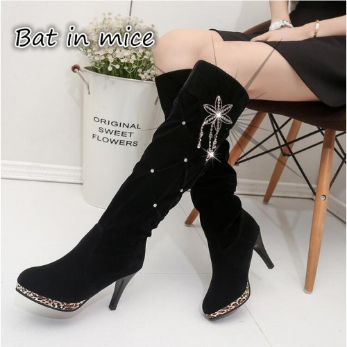 2017 women thigh high boots over the knee motorcycle boots