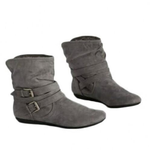 Autumn Winter Women's Boots Matte Flock Boots