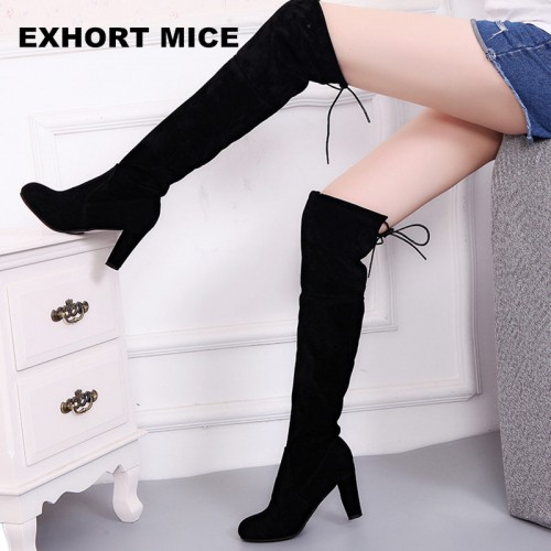 Faux Suede Slim Boots Sexy over the knee high women