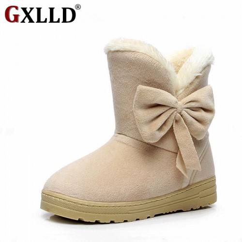 Gxlld Women winter fashion solid snow boots female