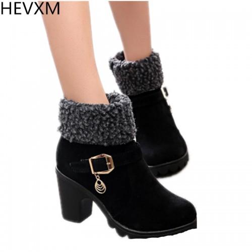 HEVXM 2017 New Autumn Winter Women Boots