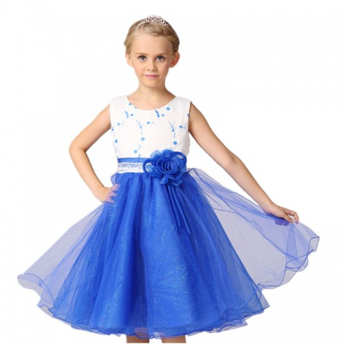 Summer Children Girls Dresses Sleeveless Formal Dress