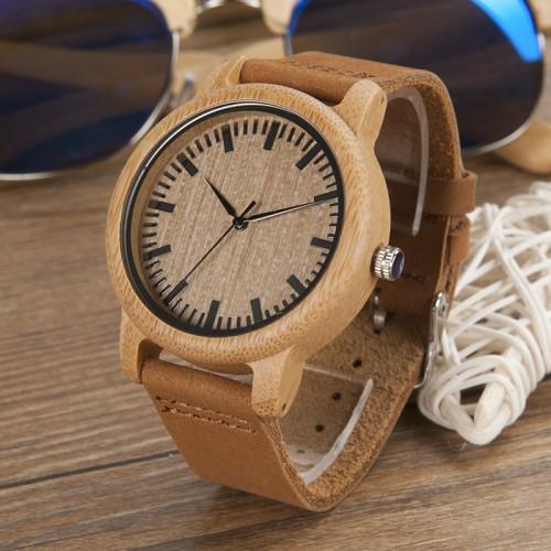 Bamboo Wood Quartz Watch (free shipping)