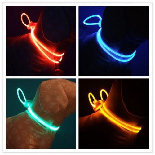 Pet Supplies Dog Puppy Collar LED Flash Light Neck Strap Pet Accessories for Medium/Large